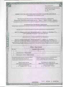 к лицензии 001
